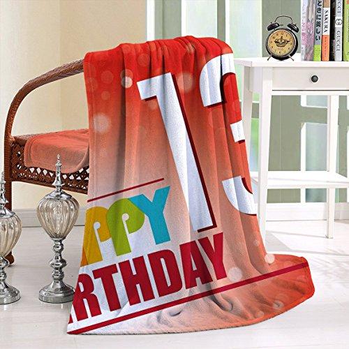 HAIXIA Blanket 13th Birthday Retro Style Teenage Invitation Graphic Bokeh (Rays Classic Wool)
