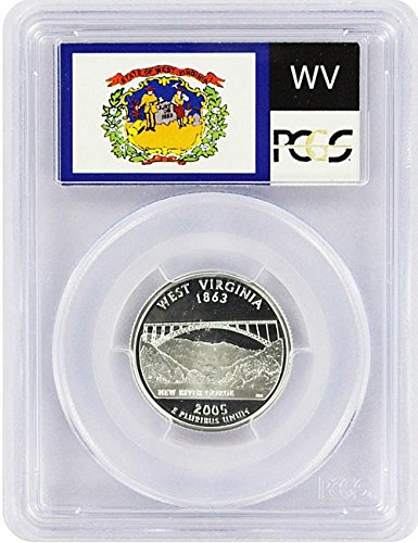 2005 West Virginia State S Silver Proof Quarter PR-69 PCGS (Silver State Virginia Quarter)