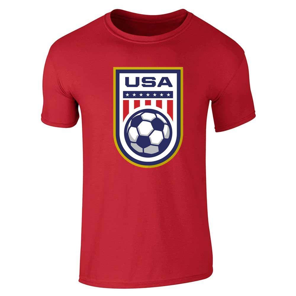 USA Soccer Team National Crest Girls or Boys Graphic Tee T-Shirt for Men