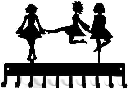 Trio of Dancers Hook Rail