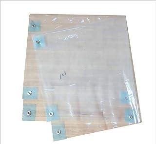 MODYL Bordure perforée Film Transparent Bord en Caoutchouc Tissu imperméable à l'eau Isolante en Tissu Tissu antigel en Plastique Tissu en Tissu Transparent sans fenêtre d'étanchéité,4X5m