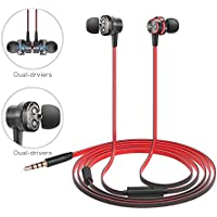 Wired Earphones, Wonstart IE-05 In-Ear Headphones, Magnet Attraction Earbuds with Dual-Drivers and Noise Isolating