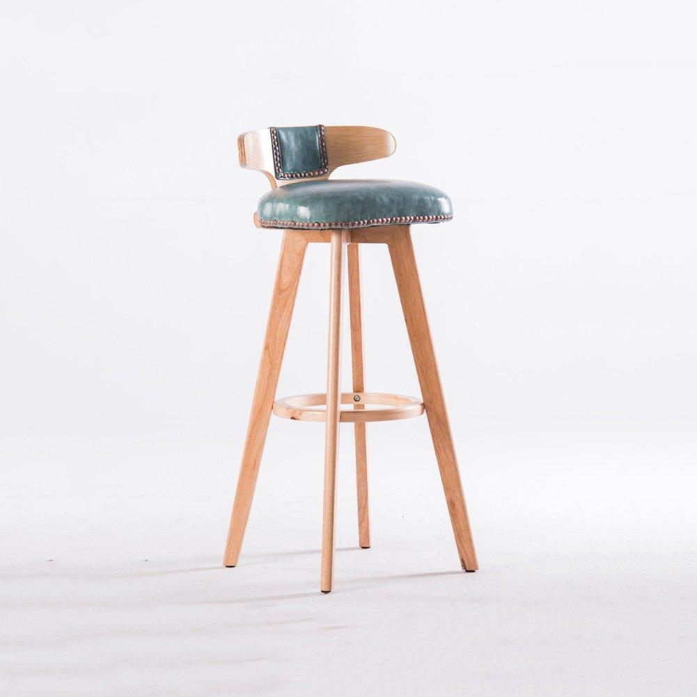 DALL カウンターチェア FL-23シンプルでファッショナブルな バースツール 朝食バーのスツール 高い足 スツール 組み立てることができます 回転可能な 80cm 高い (色 : 青) B07DK12JX4 青 青