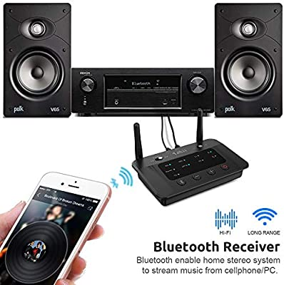 Avi/ón Compatible con TV Altavoces y Auriculares Bluetooth PC Adaptador de Vuelo Inal/ámbrico con Entrada Dual de 3.5 mm Duraci/ón de la Bater/ía de 7.5 Horas ZIOCOM Transmisor Bluetooth para TV