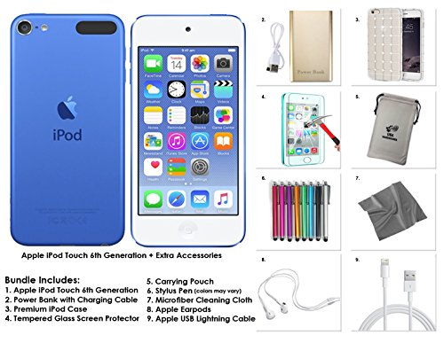 Apple iPod Touch 6th Generation and Accessories, 128GB - Blue