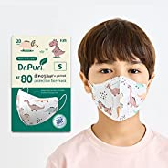 [20 Pack] Dr.Puri New Micro-Dust Protection Kids Face Premium Mask (KF80) Dinosaur Printed