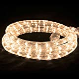 American Lighting Flexbrite LED Rope Lighting Kit with Mounting Clips, 2100K Ultra Warm White, 75-Foot