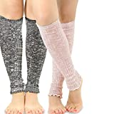 TeeHee Women's Fashion Leg Warmers Loose Bottom 2-Pack Assorted Colors (Dark)