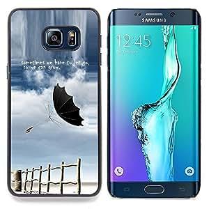 - Let Go Grow Sometimes Storm Quote Umbrella - Caja del tel????fono delgado Guardia Armor- For Samsung Galaxy S6 Edge Plus Devil Case