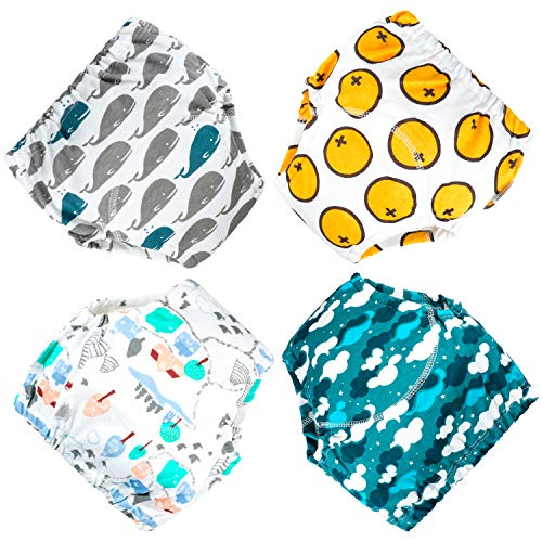 MooMoo Baby 4 Pack Potty Training Pants for Baby and Toddler Boys- 2T-M
