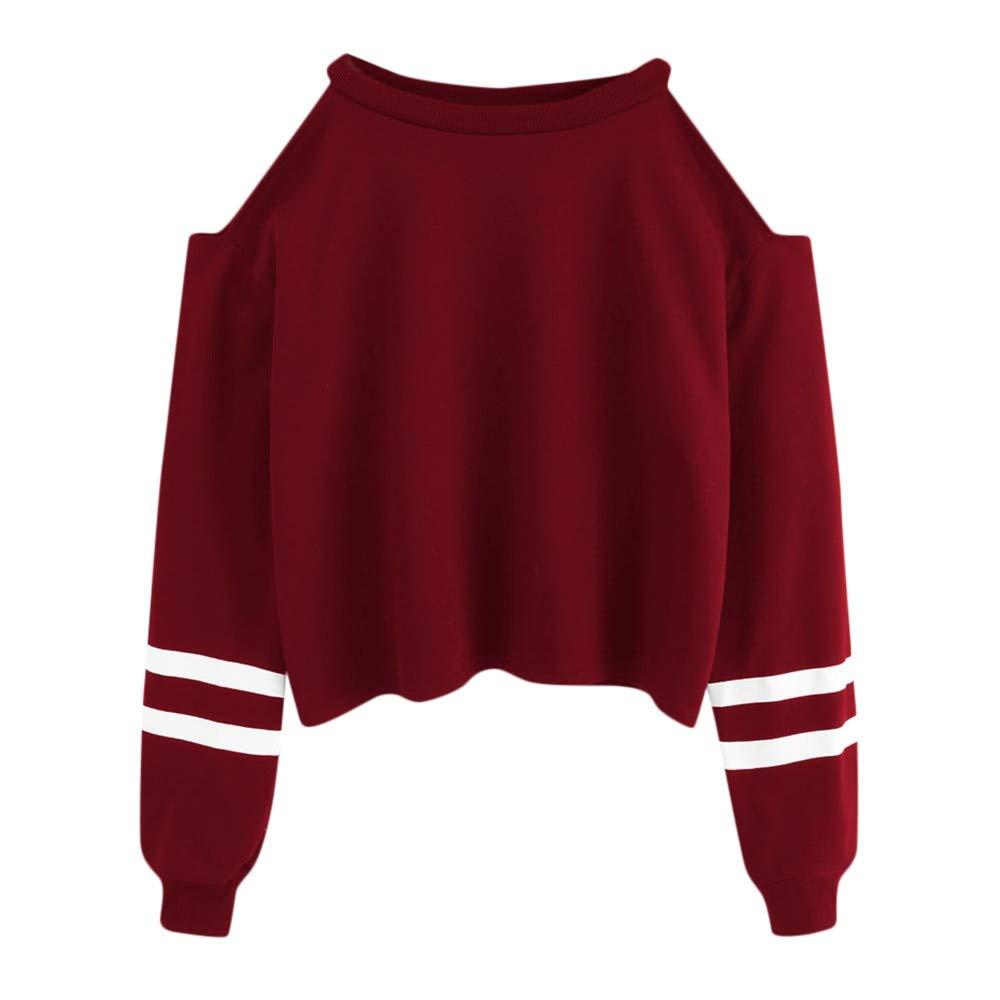 Amazon.com: ZJSWCP Sweatshirt New Women Off Shoulder Long Sleeve Blouse Sweatshirt Pullover Casual Tops Shirt Sudaderas Mujer Bluza Damska Felpe Donna 10: ...