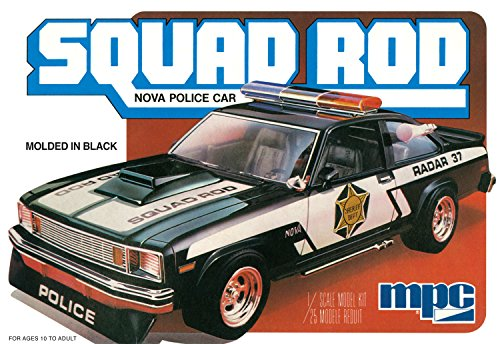 MPC 851 Squad Rod Nova Police Car 1:25 Scale Plastic Model Kit - Requires Assembly (Model 25 Plastic Scale)
