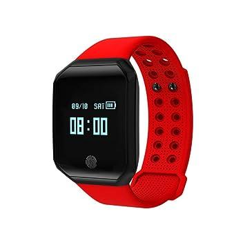 UTHDELD Smartwatch Inteligente Pulsera Z66 Podómetro Impermeable Hombres Banda Monitor de Presión Arterial de Ritmo Cardíaco Reloj Sport Sleep Tracker para ...