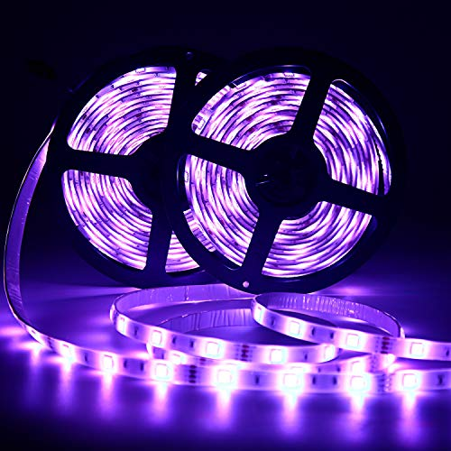 LED Strip Lights 2 Roll x 16.4FT RGB LED Light Strip 300pcs LED Tape Lights Color Changing LED Strip Lights with Remote for Home Lighting
