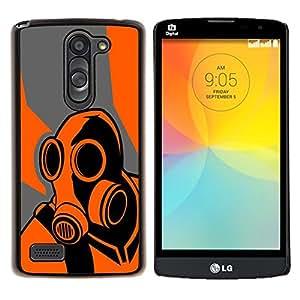 Qstar Arte & diseño plástico duro Fundas Cover Cubre Hard Case Cover para LG L Prime D337 / L Bello D337 (Naranja Psycho - B0Rderlands Juego)