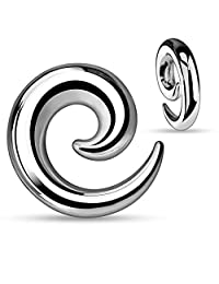 """Surgical Steel Spiral Ear Tapers Stretching Jewelry Hollow Interiors 8g-1/2"""""""
