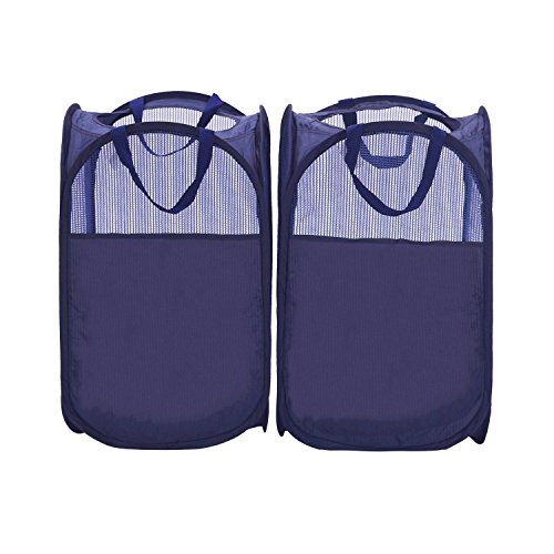 StorageManiac Foldable Pop-Up Mesh Hamper, Laundry Hamper with Reinforced Carry Handles, Pack of 2 (Hamper Portable compare prices)