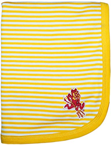 Arizona State University Sparky The Sun Devil Creative Knitwear Striped Baby and Toddler Blanket