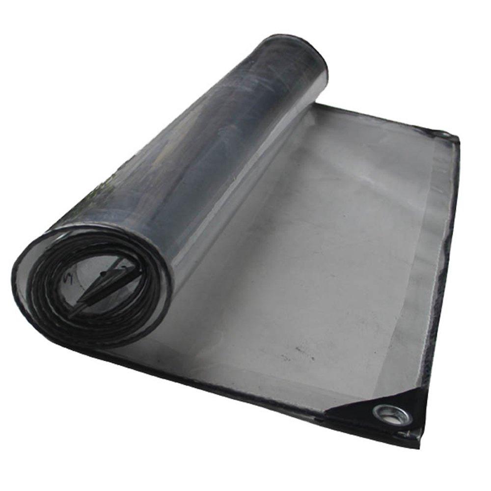 Clair Actual Taille 1.52m AJZXHE Tente de bÂche Transparente Tissu de Pluie Transparent Salle de Soleil Plante Hangar climatisation Salle de Lavage de Voiture partition Tente Tissu -Tente