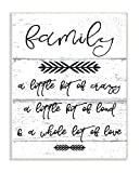 The Stupell Home Décor Collection a Little Crazy Loud Love Family Wall Plaque Art, 10 x 15