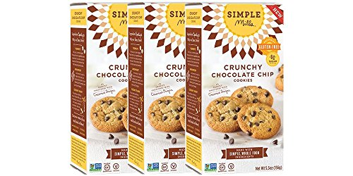 (Simple Mills Crunchy Cookies, Chocolate Chip, 5.5 oz, 3 count )