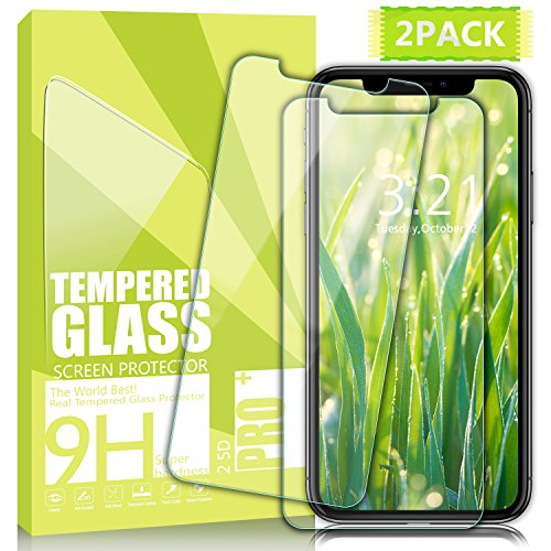 Ulimag iPhone X Screen Protector,2Pack Not Full Coverage HD iPhone X Tempered Glass Screen Protectors Ultra-thin 3D Touch 0.25mm Anti-Scratch Screen Glass for iPhone X - Transparent