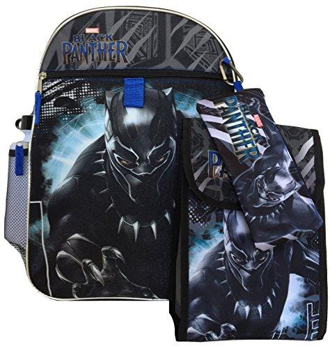 Marvel Avengers Black Panther 5pc Backpack Set