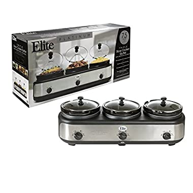 MaxiMatic EWMST-325 Elite Platinum Triple Slow Cooker