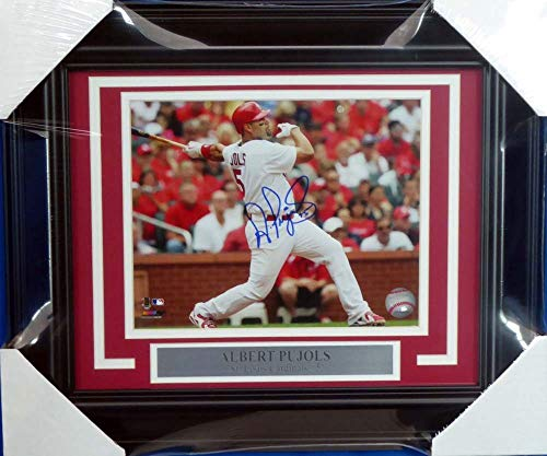 - Albert Pujols Autographed Signed Memorabilia Framed 8x10 Photo St. Louis Cardinals - Beckett Authentic
