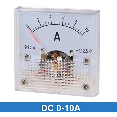 uxcell 91C4-A Analog Current Panel Meter DC 10A Ammeter for Circuit Testing Ampere Tester Gauge 1 PCS by uxcell (Image #1)
