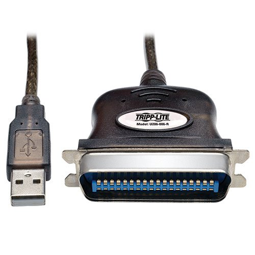 Tripp Lite USB to Parallel Printer Cable (USB-A to Centronics 36-M) 6-ft. (U206-006-R)
