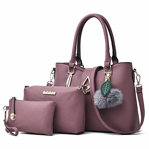 pezzi donne borsa tre con borsa di borsa blu GQFGYYL violet spalla inclinata madre single le con PxYwvq5
