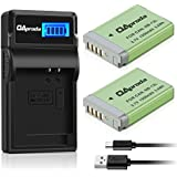 OAproda NB-13L Fully Decoded Battery (2 Pack) and Smart LCD Display USB Charger for canon Powershot G1 X Mark III, G5 X, G7 X, G9 X, G7 X Mark II, G9X Mark II, SX620 HS, SX720 HS, SX730 HS Cameras