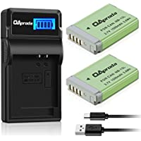 OAproda NB-13L Fully Decoded Battery (2 Pack) Smart LCD Display USB Charger Canon Powershot G1 X Mark III, G5 X, G7 X, G9 X, G7 X Mark II, G9X Mark II, SX620 HS, SX720 HS, SX730 HS Cameras