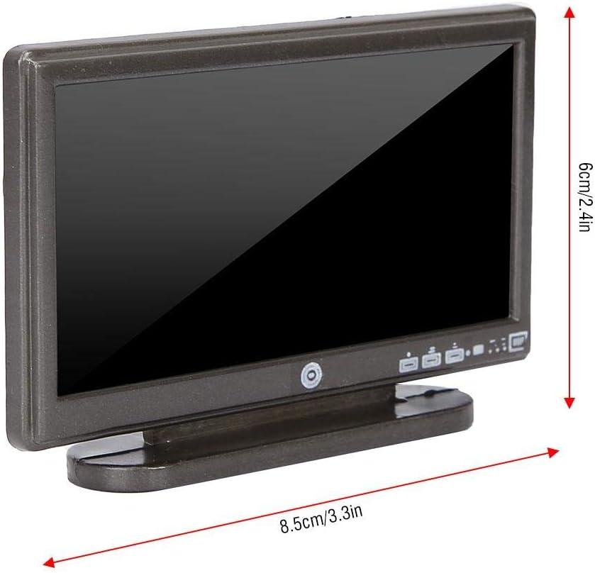 Amazon.es: Zerodis Dollhouse Miniature TV Toy, Simulation ...