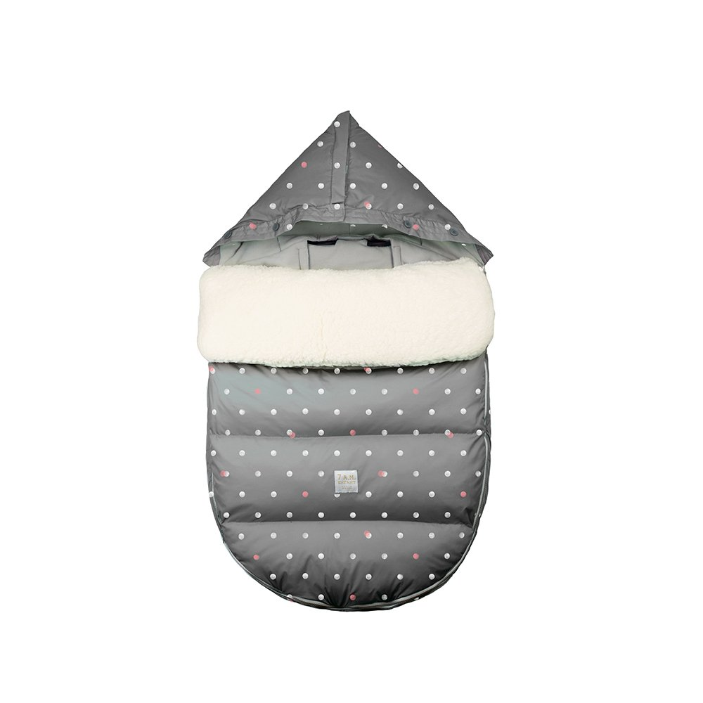 7AM Enfant LambPod Infant Travel Bed, Grey Polka Dots, Medium/Large
