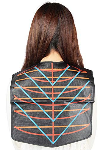 Salon Hair Cutting Collar Cape, Stylist Color Capes Guide Tools-Black