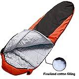 VERZEY Mummy Camping Sleeping Bag Great For 4 Season Traveling Camping Hiking Outdoor Activities Waterproof Sleeping Bag For AdultsKidsBoys And GirlsDark Grey Red Mummy