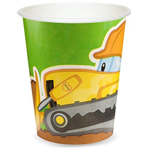 Construction Party Supplies - 9 oz. Paper Cups (8)