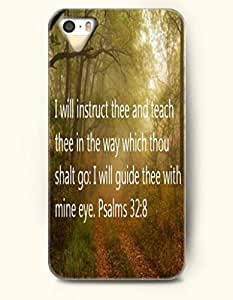 iPhone 4 4S Case OOFIT Phone Hard Case **NEW** Case with Design I Will Instruct Thee And Teach Thee In The Way Which Thou Shalt Go: I Will Guide Thee With Mine Eye. Psalms 32:8- Bible Verses - Case for Apple iPhone 4/4s
