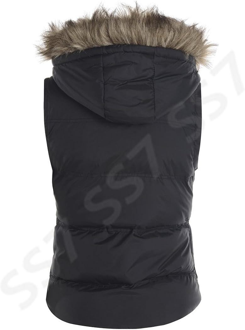 Black SS7 New Womens Bodywarmer Hooded Gilet UK - 16, Black Size 8-16