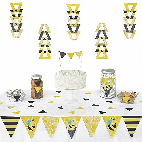 Honey Bee - Triangle Party Decoration Kit - 72 Pieces