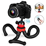 Tripod for iPhone/Android Phone, Goofoto Flexible Phone Tripod with Wireless Remote, Bendable Smartphone Tripod Mini Vlogging Tripod Stand Holder for Camera Mobile Cell Phone(Upgraded)