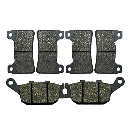 Cbr600rr Rear Sets - AHL Front & Rear Brake Pads Set for Honda CBR600RR CBR600 RR 2005-2006 (Semi-metallic)