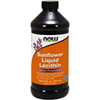 NOW Foods - Sunflower Liquid Lecithin - 16 oz.
