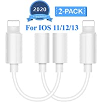 Lighting to 3.5 mm Headphone Adapter Earphone Earbuds Adapter Jack 2 Pack,Easy to Use,Compatible with Apple iPhone 11…