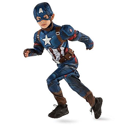 Marvel Captain America Costume for Kids - Captain America: Civil War Size 4 Blue