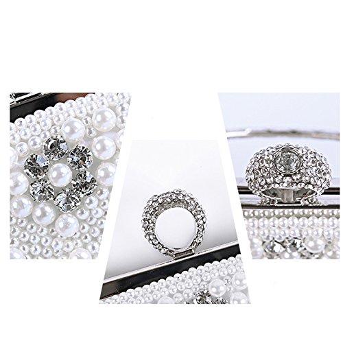 Bag Bridal White Hot Bag Luxury Fashion Explosion Cheongsam Dress Pearl Hand Bag XIAOLONGY Dinner Diagonal Bag Shoulder COxwq4qFf