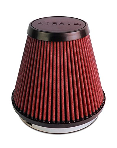 Airaid 700-466 Universal Clamp-On Air Filter: Round Tapered; 6 in (152 mm) Flange ID; 6 in (152 mm) Height; 7.25 in (184 mm) Base; 4.75 in (121 mm) Top