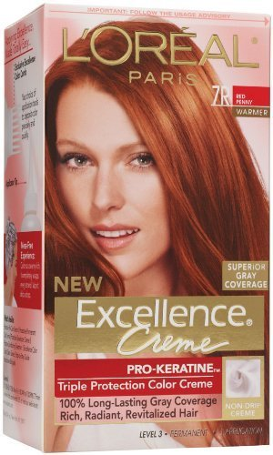 - L'Oreal Paris Excellence Creme Triple Protection Color 7R Red Penny 1ea ( Packs of 3)